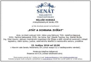 přednáška Senátu ČR - Stát a ochrana zvířrat